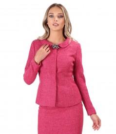 Elegant jacket made of wool and alpaca