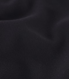 Flared office dress made of elastic fabric