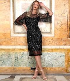 Veil dress with sequins