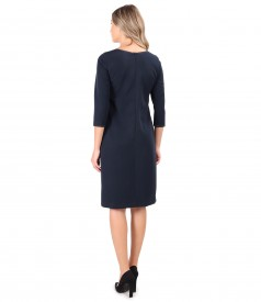 Elastic fabric dress decorated with rips at the waist